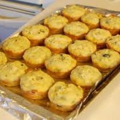 Yellow Squashed Muffins. I added zest from 2 oranges and used Earth's Balance for dairy free. Yum!