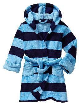 Striped fleece robe   Gap