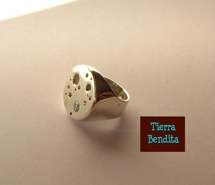 anillo de plata 950 hecho a mano