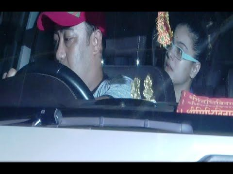 Kajol & Shreyas Talpade spotted at Sunny Super Sound Studio in Juhu, Mumbai.