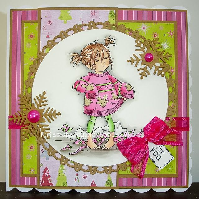 LOTV - Stroppy Girl Christmas Jumper with Set 24 Sentiment Tag by Lorraine Bailey