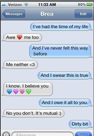 Naughty messages to girlfriend