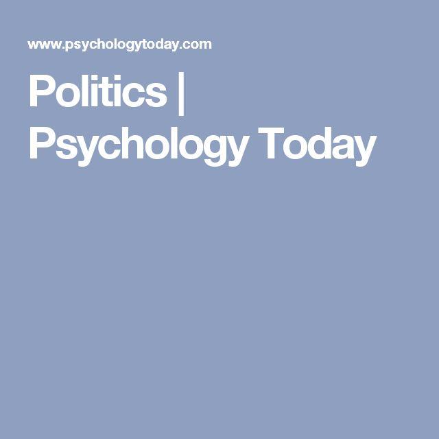 Politics | Psychology Today