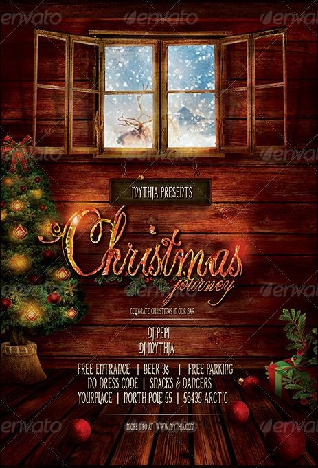 The 25 best Merry Christmas Flyer Template images on Pinterest ...