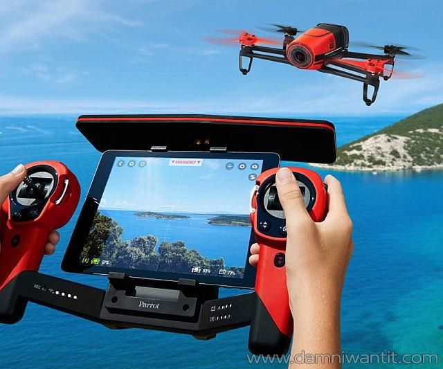 This awesome quadrocopter drone created by Parrot features an impressive 14 megapixel full HD 1080p camera with an awesome 180 degrees field of view. You can now fly around capturing impressive footage and very stabilized video thanks to its 3-axis image stabilization technology. This bad boy can even return home automatically… imagine that!