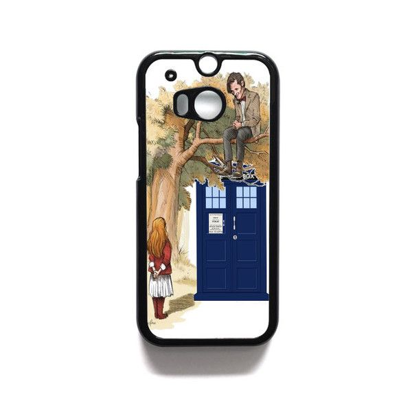 Alice in wonderland and tardis doctor who HTC One M7 M8 iPod Touch 4 5 Case Cover