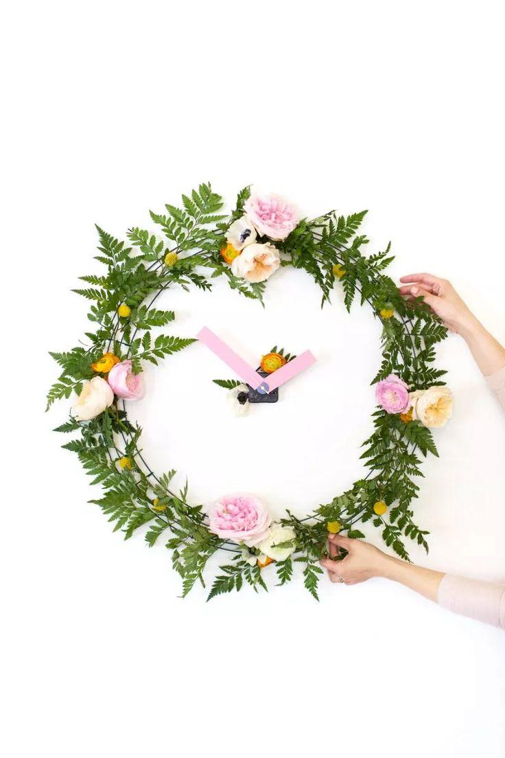 25 unique floral clock ideas on pinterest lock screen wallpaper diy floral wall clock amipublicfo Choice Image