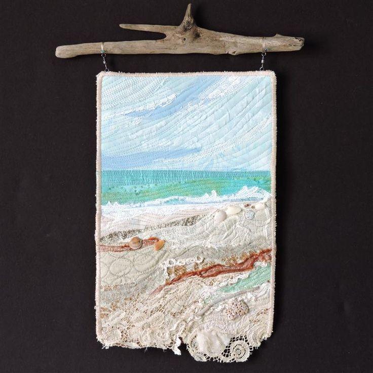 Fiber Art Beach Series # 71 by Eileen Williams