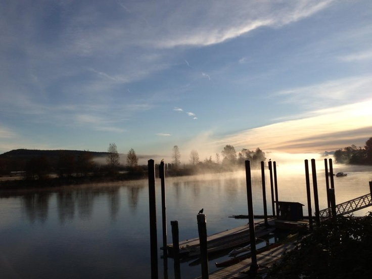 Fort Langley's Bedford Channel on a misty autumn morning. Photo by Bridget Clifford