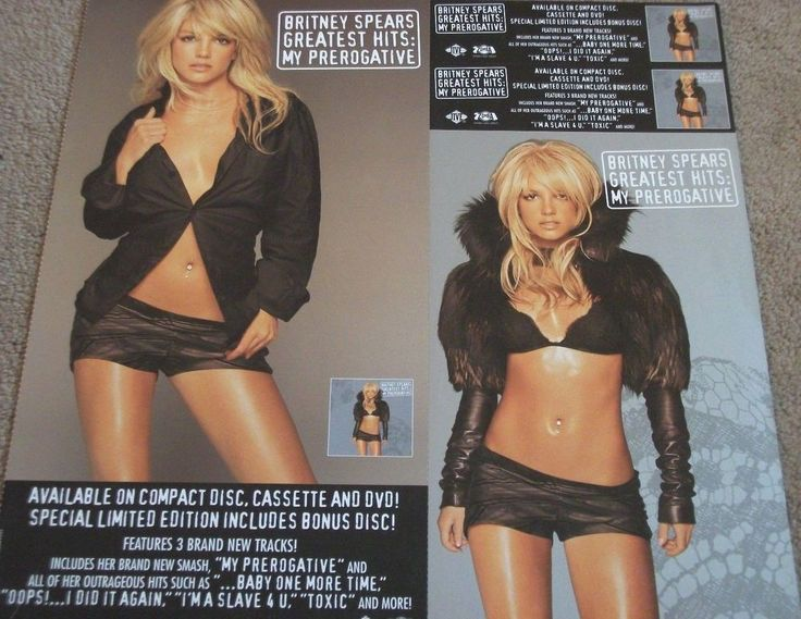 "Britney Spears / Greatest Hits / My Prerogative / Jive Records 12"" x 12"" Promo Poster #BritneySpears #GreatestHits #Poster"