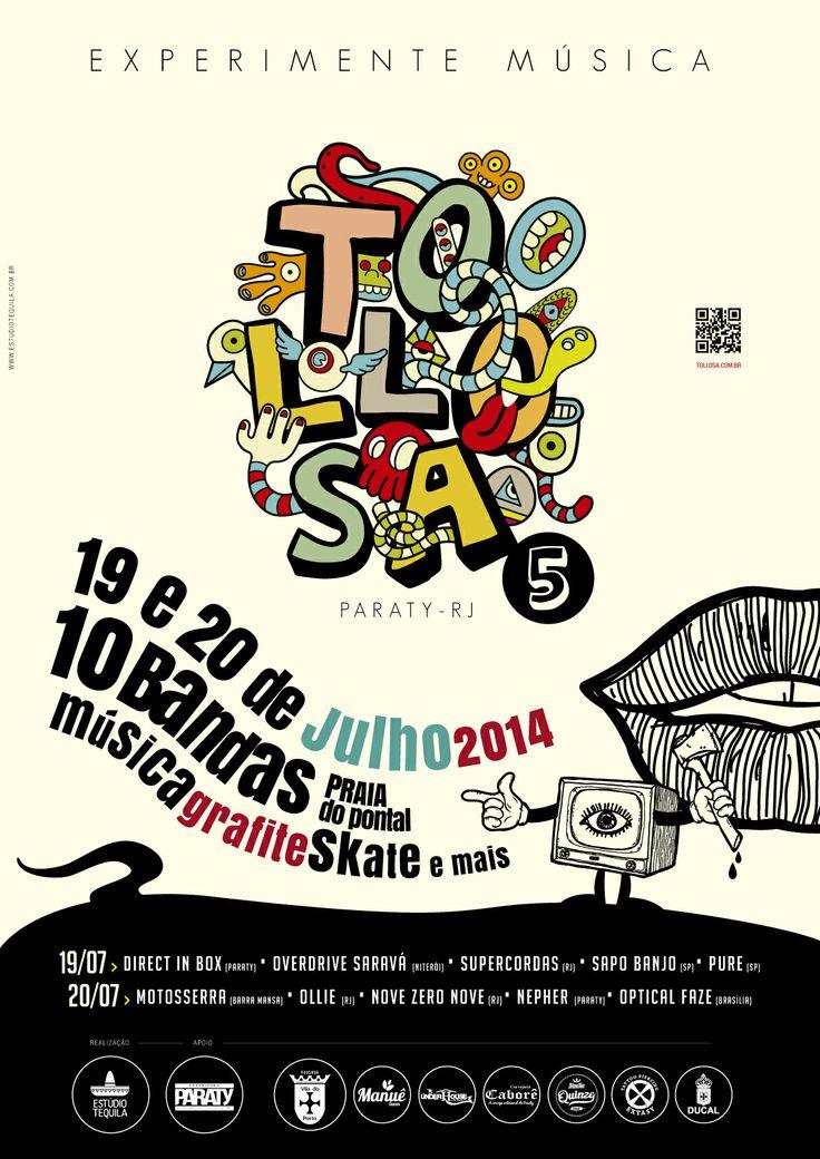 Existe rock em Paraty  Festival Tollosa abre espaço para a música independente   www.tollosa.com.br  www.facebook.com/tollosa  Realização: Estúdio Tequila   #PousadaDoCareca #Paraty #Tollosa #rock #banda #música #evento #festival #cultura #turismo
