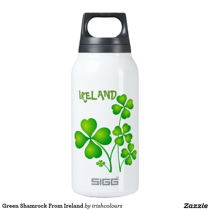 http://www.zazzle.co.uk/green_shamrock_from_ireland_siggthermobottle-256461768346169746?rf=238703308182705739 Green Shamrock From Ireland 10 Oz Insulated SIGG Thermos Water Bottle