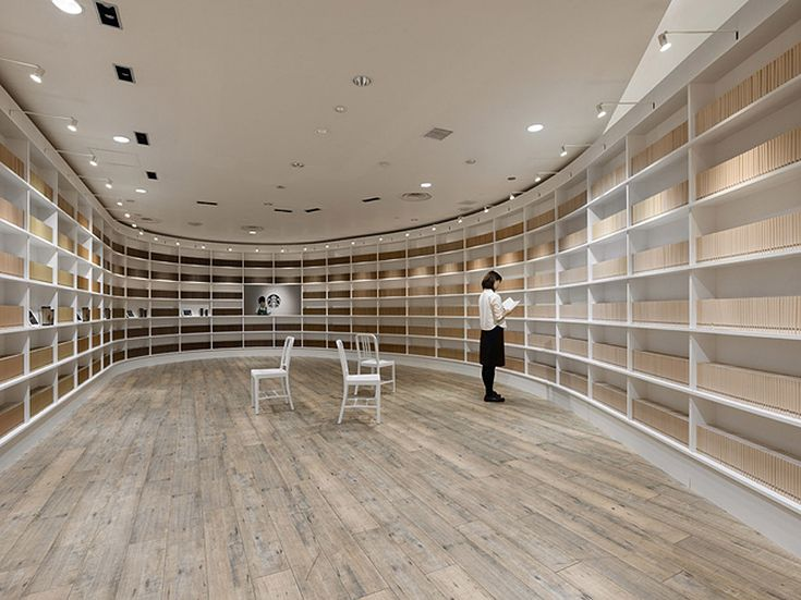 This Pop Up Starbucks Coffee Shop In Tokyo By Japanese Design Studio Nendo  Was Designed Like A Library, Where Customers Ordered Drinks By Taking Books  To ...