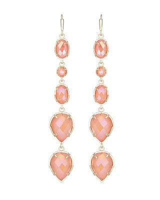 Byron Long Earrings in Iridescent Tangerine- Kendra Scott Jewelry. Coming soon!