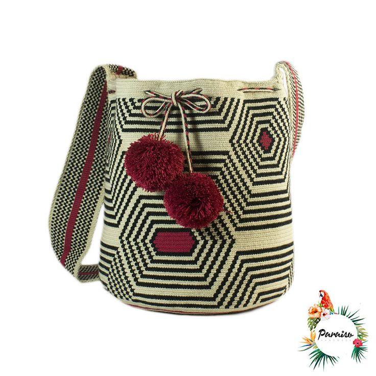 Wayuu cotton bag woven hand North of the by ParaisoHandmade