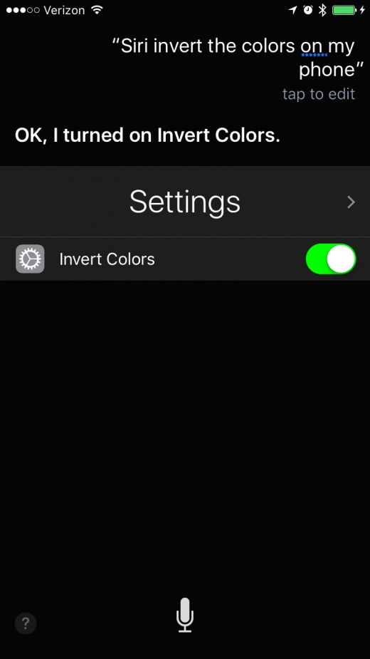 How to Invert Colors with Siri on iPhone