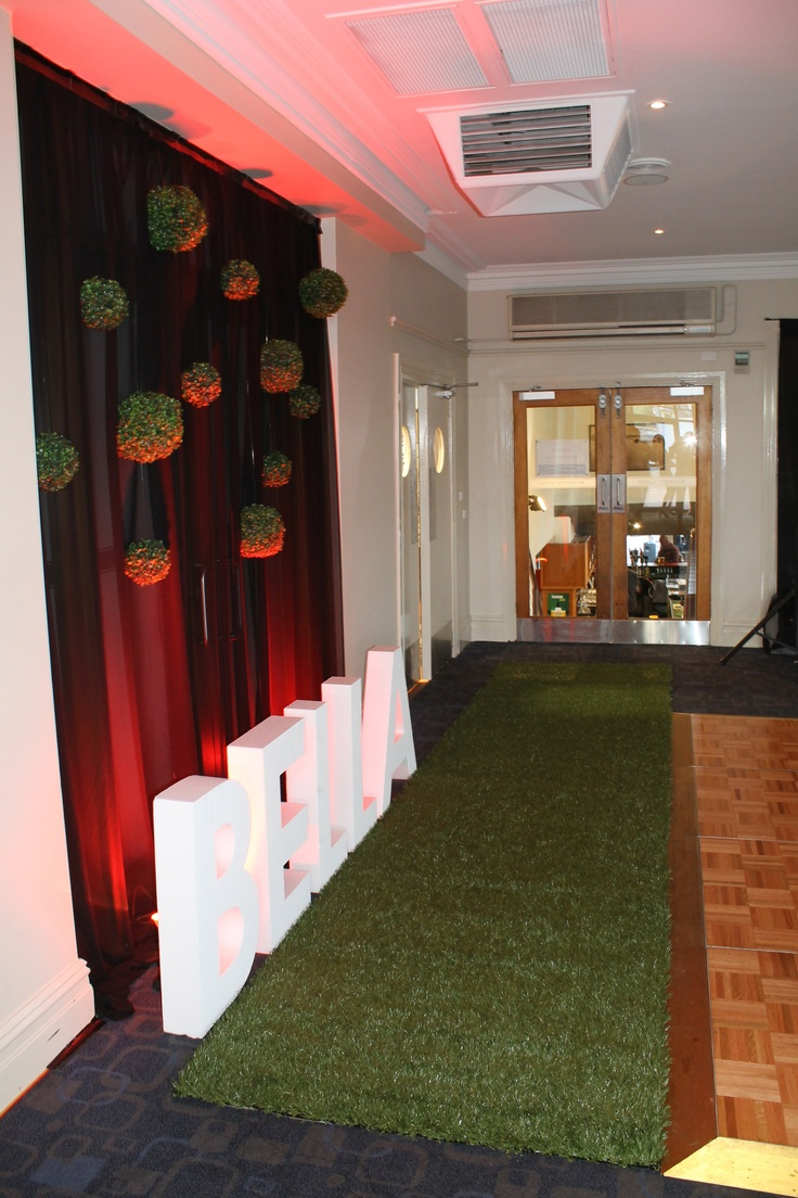 Entrance of My AFL and Essendon Bombers Themed 21st Birthday Party. Designed by Julia Callegari with support from Theme from JAK.