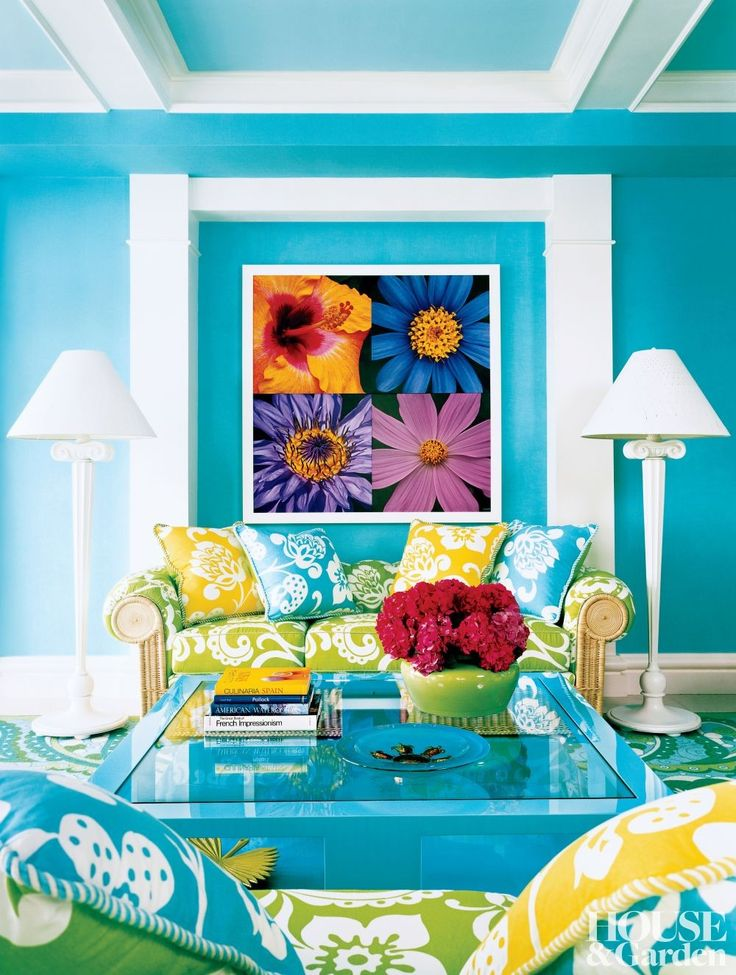 Colorful Rooms 268 best brightly colored rooms images on pinterest