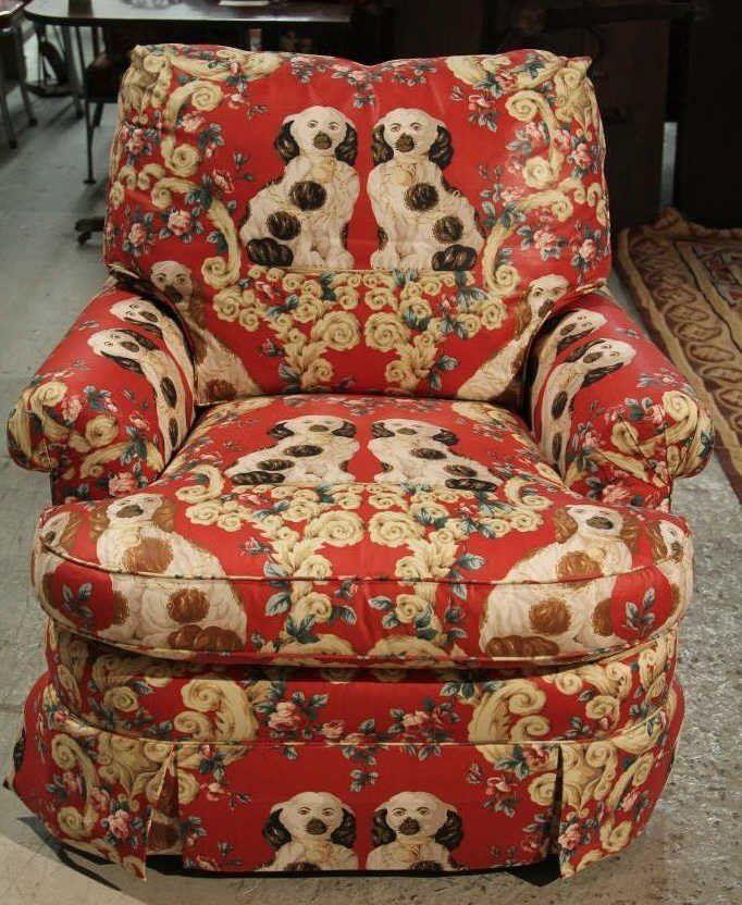 Staffordshire dog fabric!