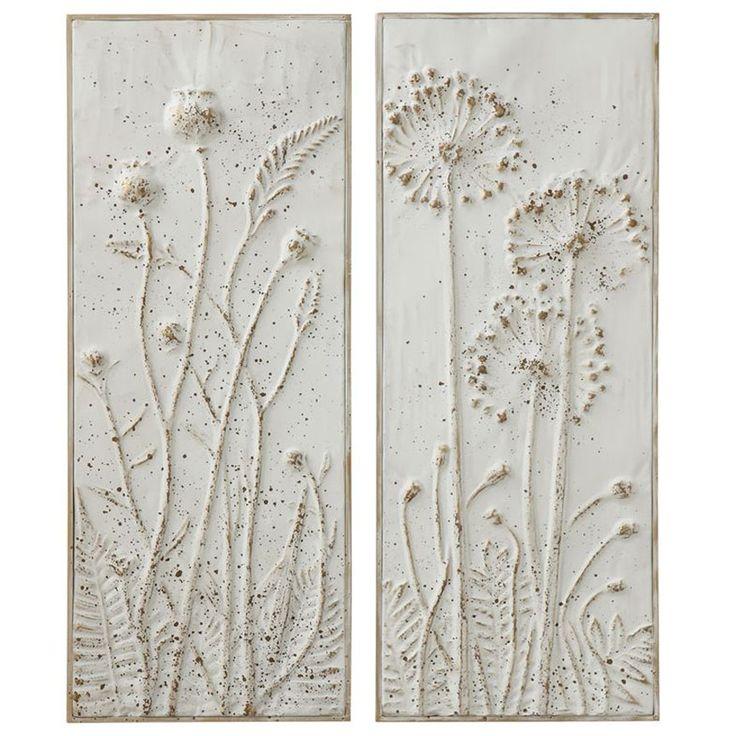 Embossed flower plaques set2 in 2020 metal wall