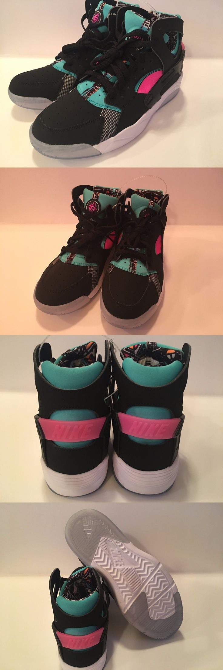 Youth 158973: Nike Flight Huarache New! Youth Size 6.5 Y Black Teal Pink Basketball Shoes $95 -> BUY IT NOW ONLY: $55 on eBay!