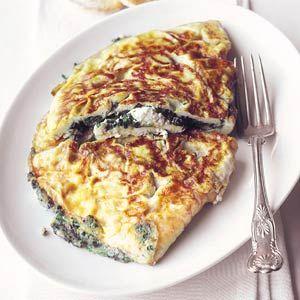 Recept - Omelet met spinazie en geitenkaas - Allerhande
