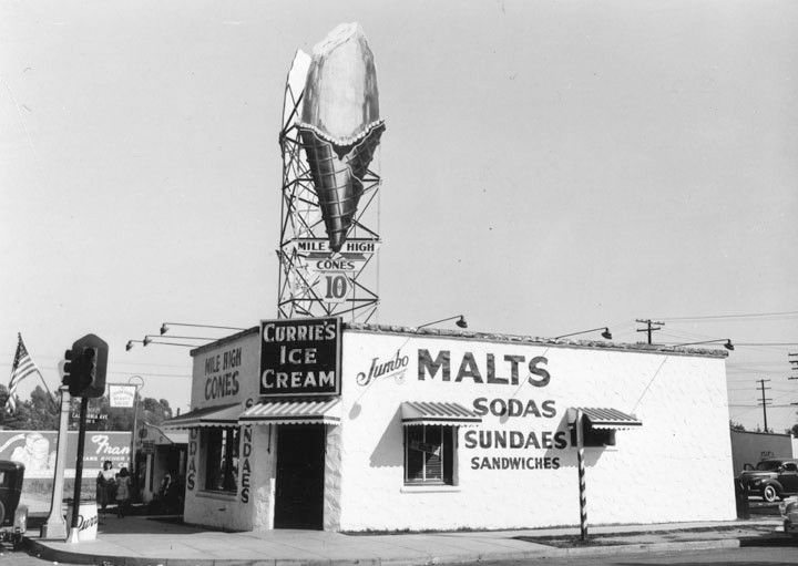 Currie's Mile High ice cream parlor, Los Angeles (ca. 1946)