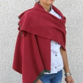 Knitted Shawl - Red