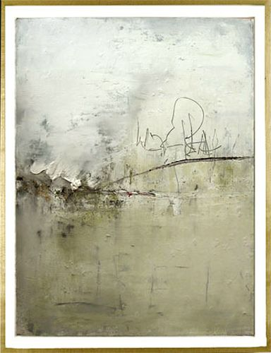 "Oughterard. 2004/ oil, pencil, and pigment on paper 30 x 22 ""; 33 1/4 X 25 1/2"" frame"