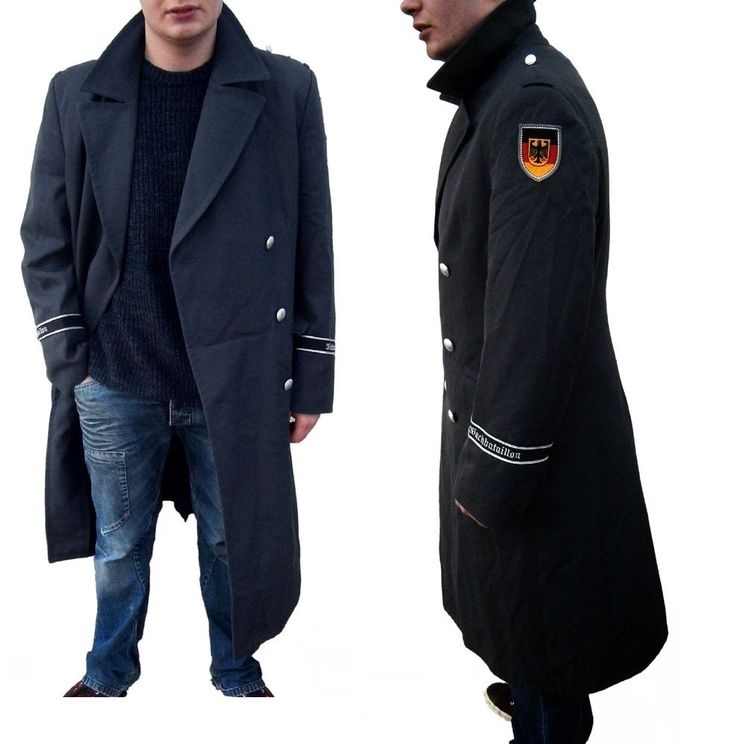 Details about 1990s German Army Wool Trenchcoat Greatcoat military ...