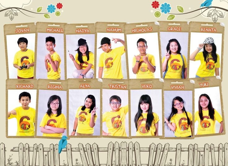 Classroom Yearbook Ideas ~ Kids in yellow yearbook photo ideas elementary