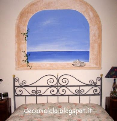 Oltre 25 fantastiche idee su parete della finestra su - Parete testata letto dipinta ...