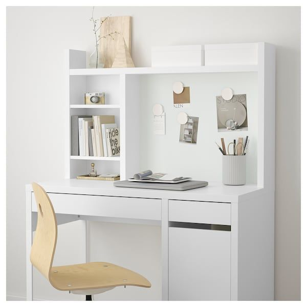 Micke Add On Unit High White Ikea Stylish Bedroom Study Room Decor Home Office Design