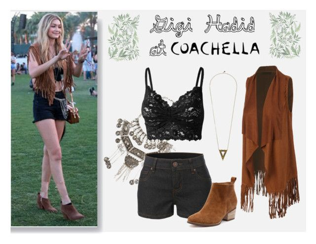 """""""Gigi Hadid at Coachella"""" by le3noclothing on Polyvore featuring Simply Nova, LE3NO and House of Harlow 1960"""