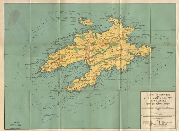 île d'ouessant carte | Finistère Bretagne