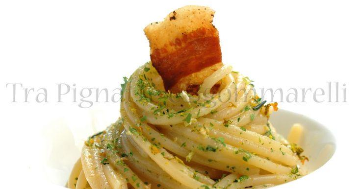 Le mie ricette - Vermicelli 'impolverati', con crema di zucchine e guanciale croccante | Tra Pignatte e Sgommarelli