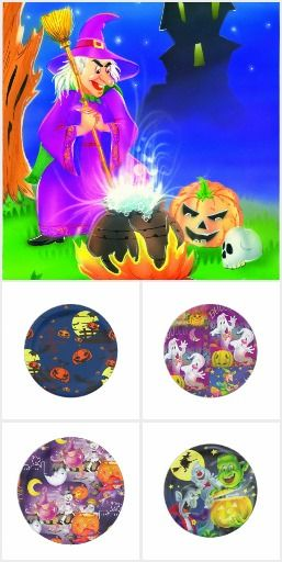 Halloween plate and party products