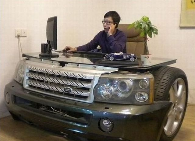 desk for a car enthusiast