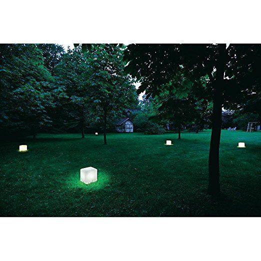 SLV DETT - Lampada da terra per esterni, colore: Bianco