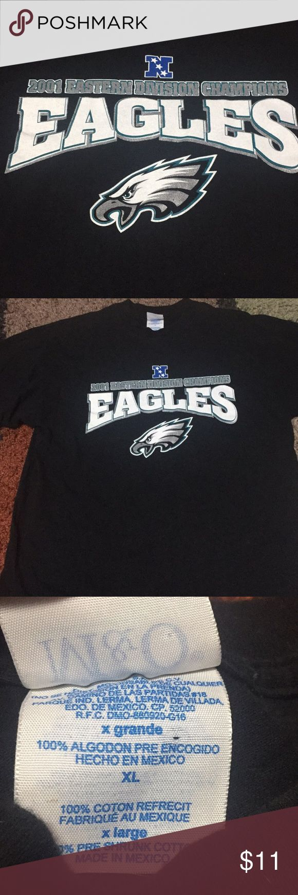 Philadelphia Eagles 2001 Division Champs T-shirt Black Division Champs T-shirt. No back detail. Shirts Tees - Short Sleeve