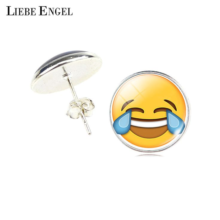 Find More Stud Earrings Information about LIEBE ENGEL Vintage Silver Color Emoji Jewelry Women Accessories Fashion Emoticons Glass Cabochon Stud Earrings Fine Jewelry,High Quality jewelry silver 925,China silver charm bracelet watch Suppliers, Cheap silver clay jewelry from LIEBE ENGEL Official Store on Aliexpress.com