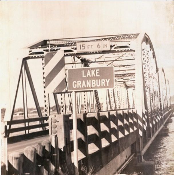 The old iron bridge leading into granbury granbury for Lake granbury fishing