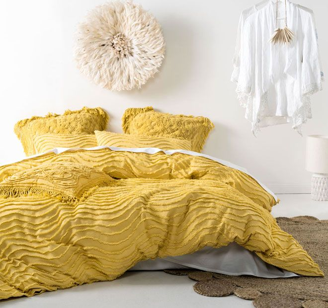Drift Quilt Cover Set Range Pineapple - Quilt Covers - Bed