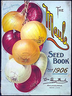 Catalog Information:  Company Name:  Wm. Henry Maule.   Catalog Title:  Seed Book for 1906.  Publication Info:  Philadelphia, PA  USA.  Category(ies) of Cover Art:  Onions.   Smithsonian Institution Libraries Catalog Number:  0016