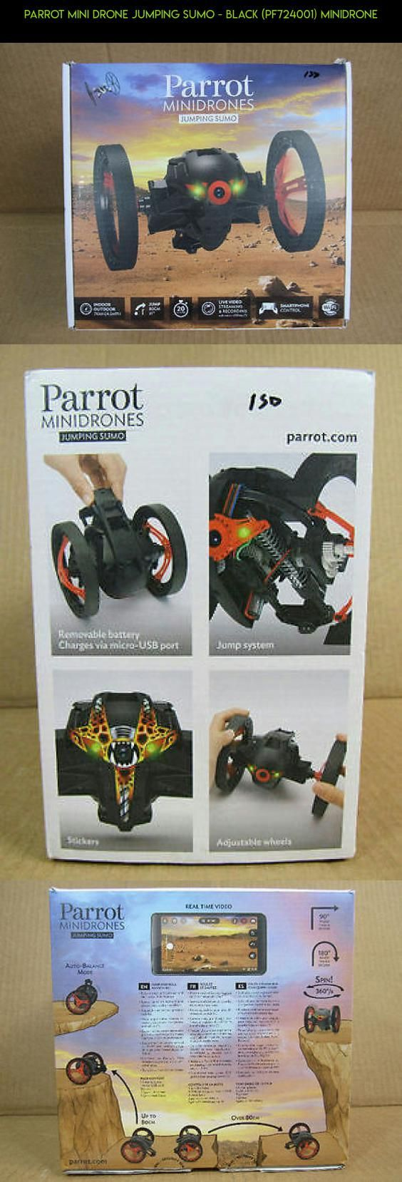 Parrot Mini Drone Jumping Sumo - Black (PF724001) MiniDrone #drone #plans #shopping #parrot #parts #technology #racing #products #kit #gadgets #jumping #fpv #drone #camera #tech