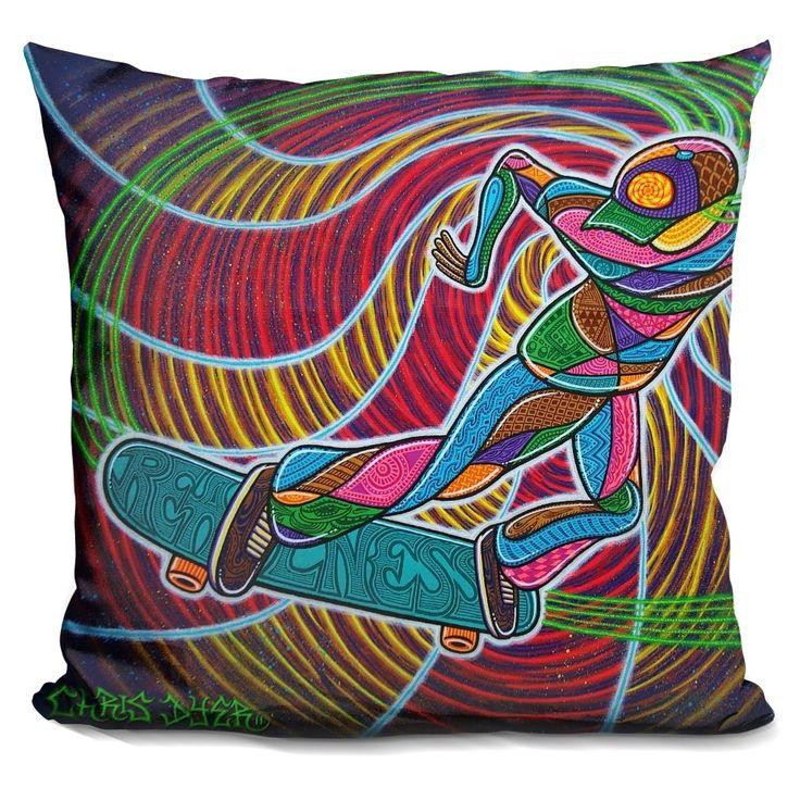 Lilipi Feeble-Grinding The Vortex Of Assension Decorative Accent Throw Pillow, Multi (Velvet)