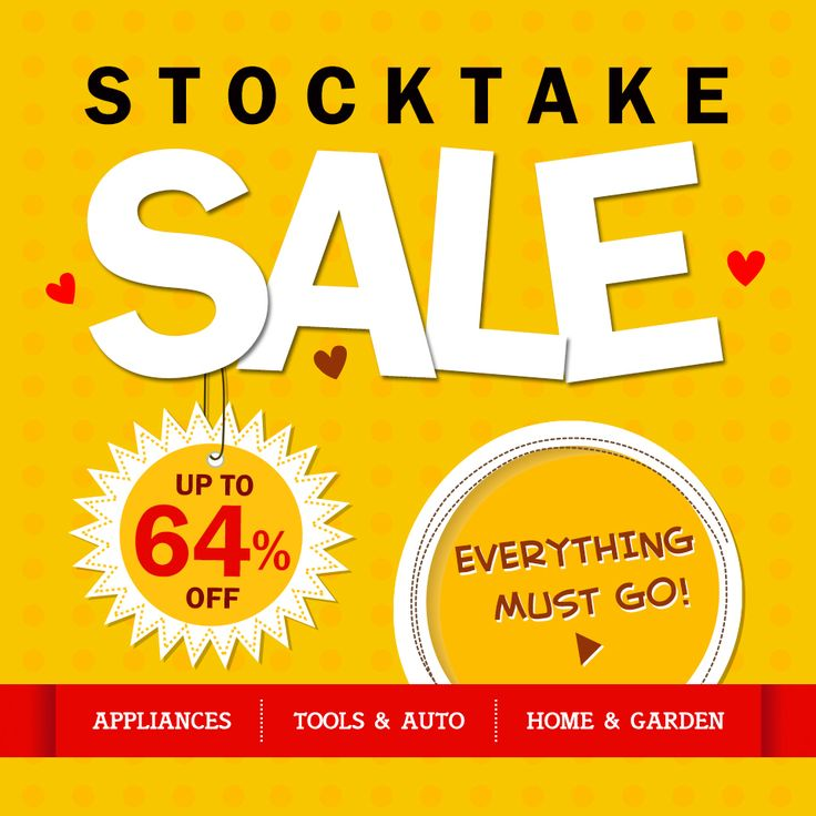 STOCKTAKE SALE, UP to 64% OFF, EVERYTHING MUST GO! #stocktake #sale #bargains
