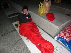 Taking part in the Lifewise Charity Sleepout - 2013