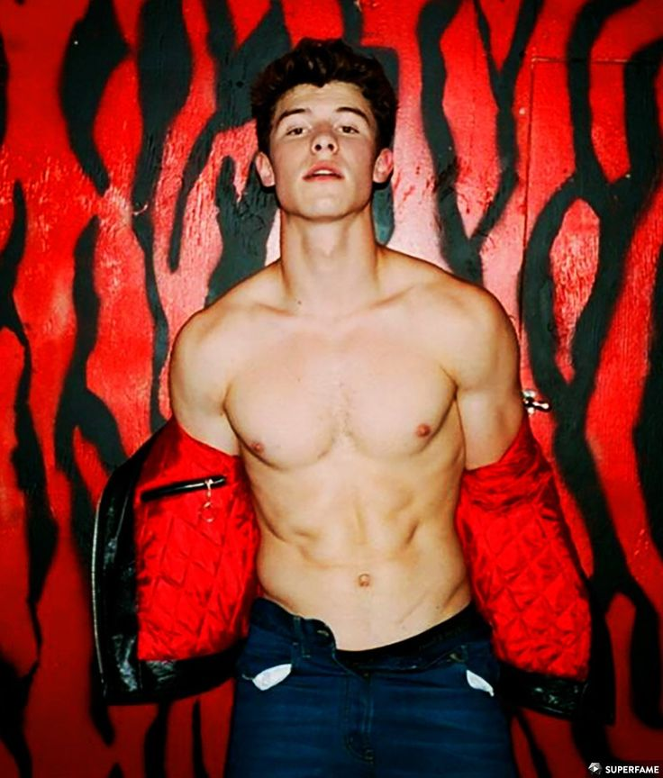 Shawn Mendes shirtless.