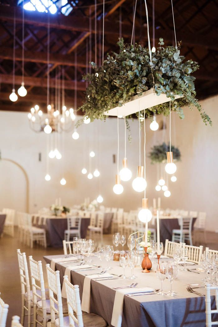 These hanging cafe lights set a romantic vibe | Image by Julia Wade Photography